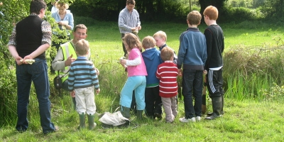 Group of children at Cloncannon Biofarm